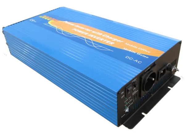 Pure sine power inverter 24V/230V 2000W with charger